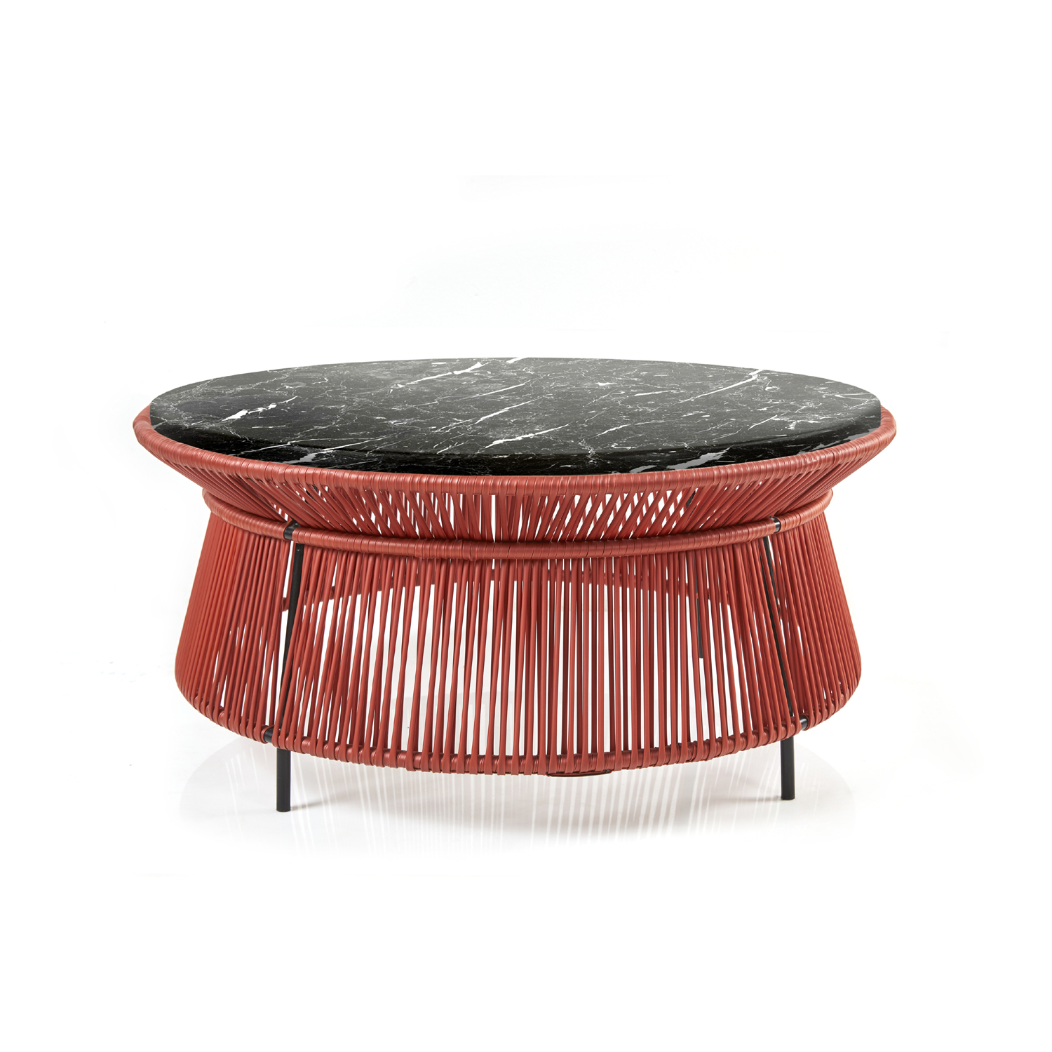 Caribe Chic - Low Side Table Marble